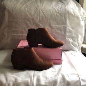 Brown booties (suede like material)